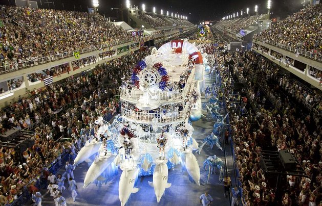 Brazil Carnival, Sea Float with Dolphins