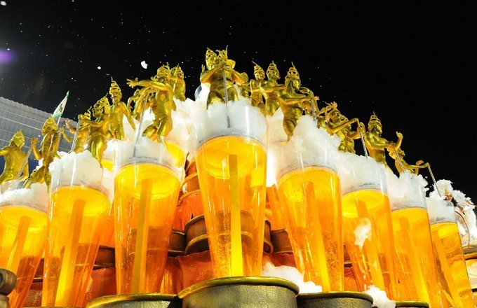 Brazil Carnival, Dance on Beer Glasses
