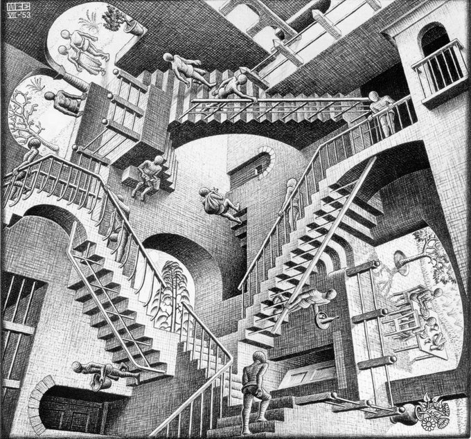 Escher, Impracticalities of space