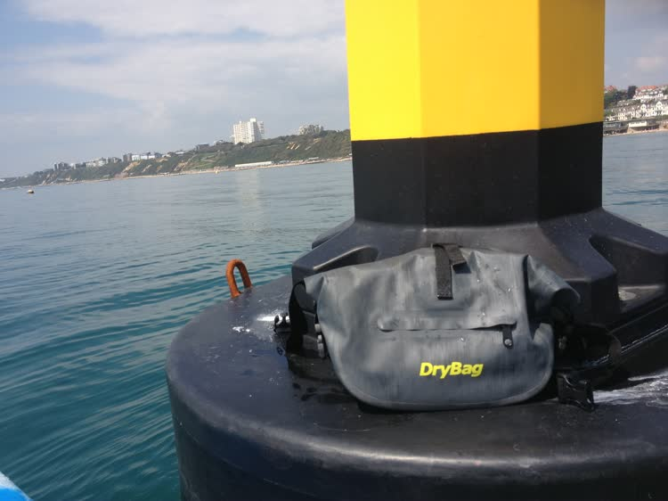 My DryBag and floating lighthouse or buoy?