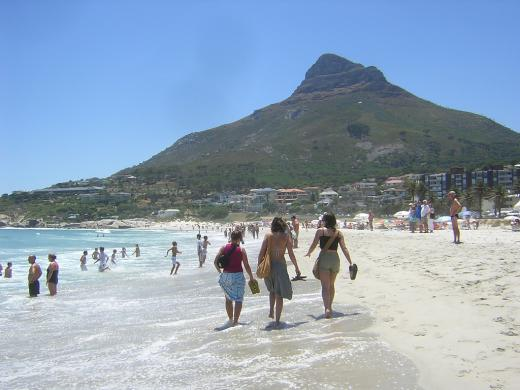 Camps Bay is a hot tourist destination