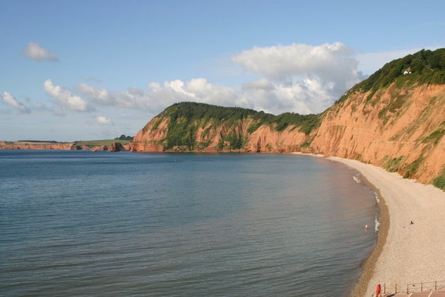 Sidmouth's coastline forms part of the Jurassic coastline