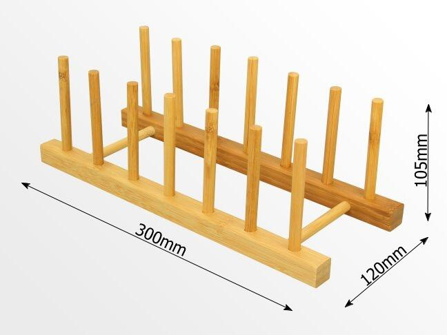 Dimensions of bamboo plate stand