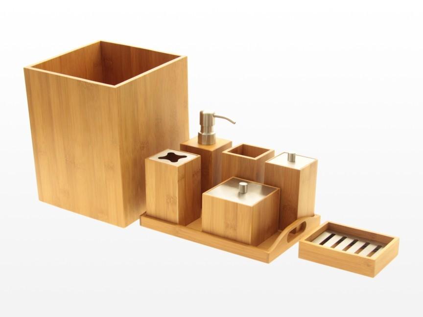 Bathroom Essentials Set Bamboo Bathroom Accessories