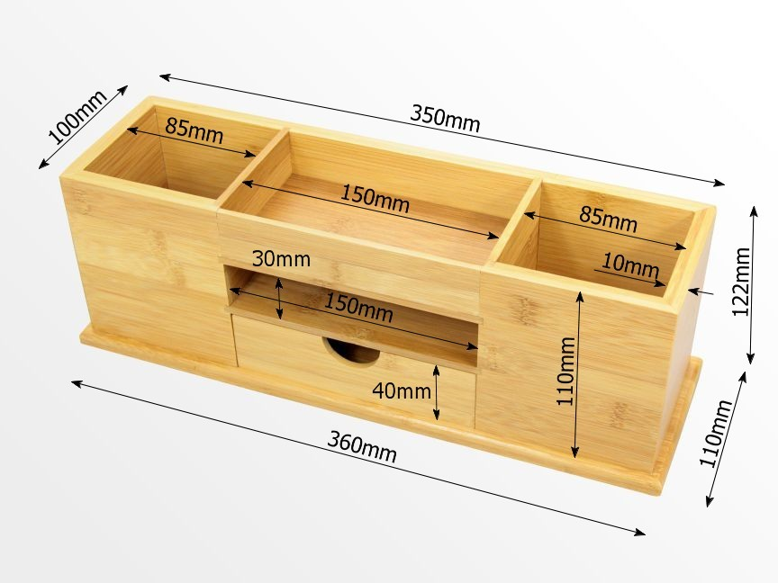 Dimensions of stationery box