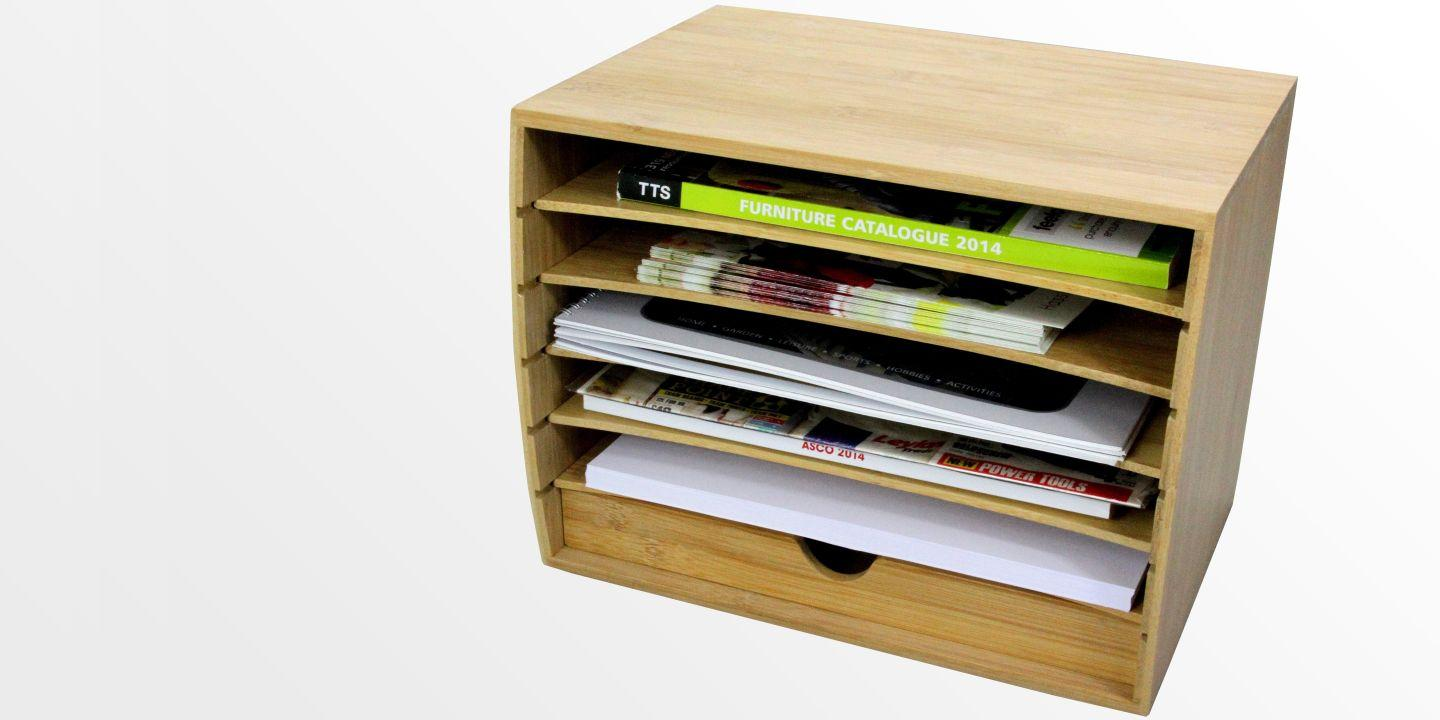 Cube Literature Sorter with Drawer, A4 Document Organiser