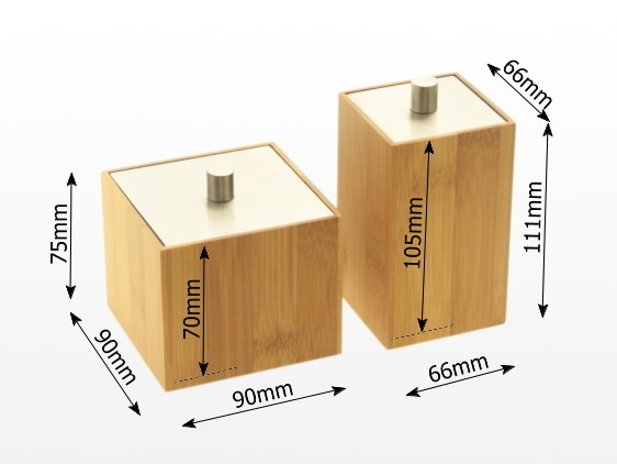 Dimensions of bamboo cups
