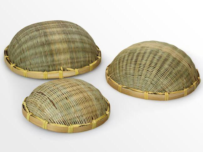 Set of 3 woven fruit bowls