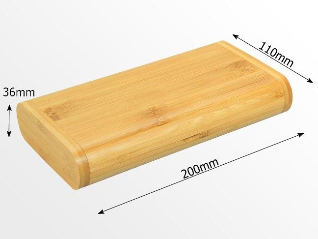 Dimensions of bamboo oil storage case