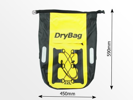 roll-top waterproof bag, cycle rack bag
