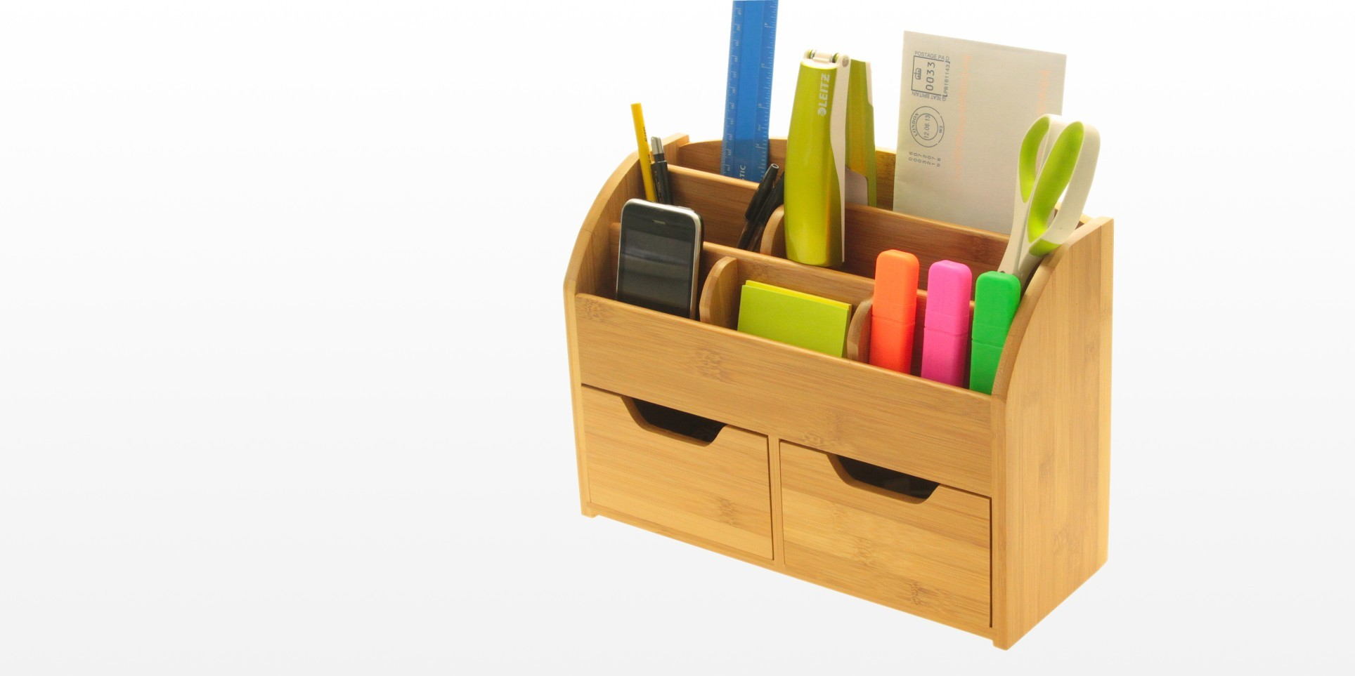 desk organiser bamboo for office