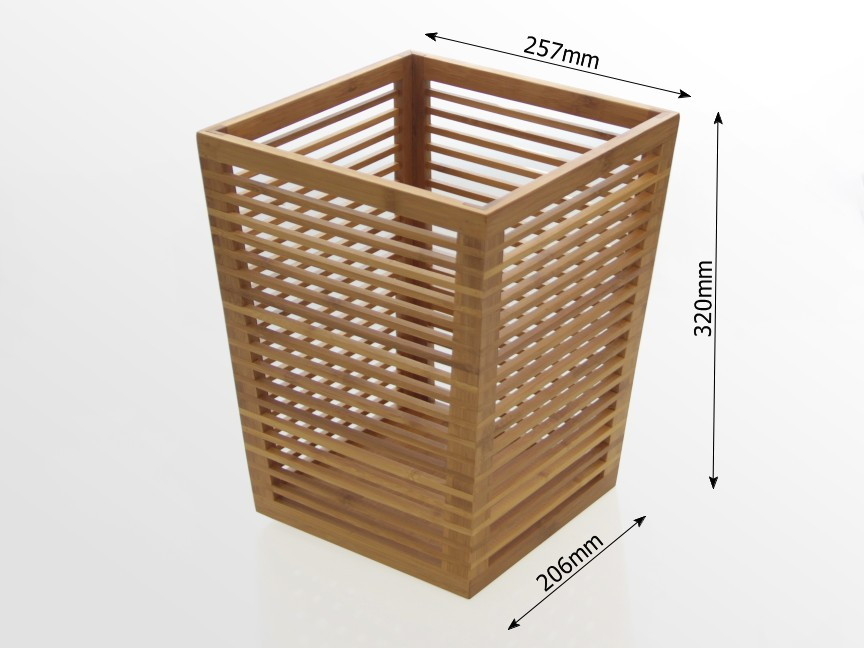Waste Paper Bin Bamboo Office Supplies