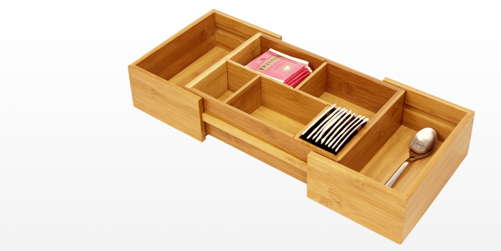 Expandable Drawer Organizer | Bamboo Kitchen Storage