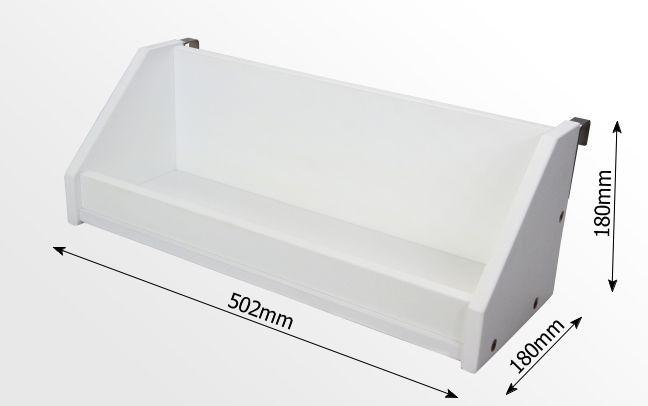 Dimensions of bed hanging shelf