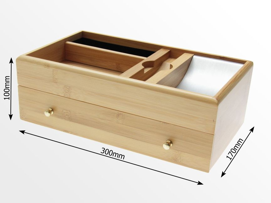 Dimensions of Bamboo Desk Stationery Box