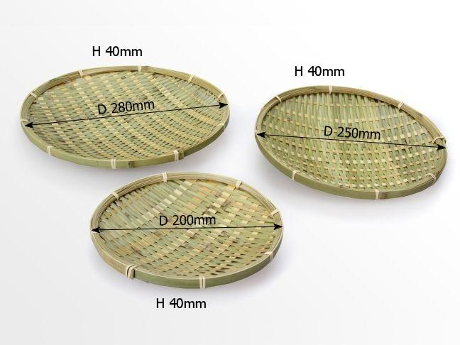 Dimensions of bamboo plates