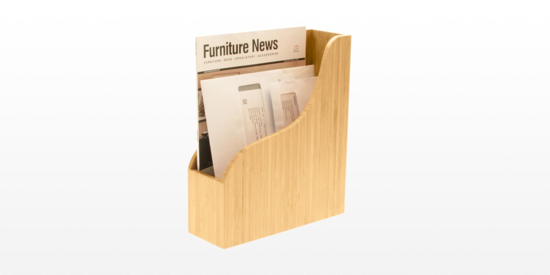 bamboo letter rack document holder office supplies With office supplies document holder