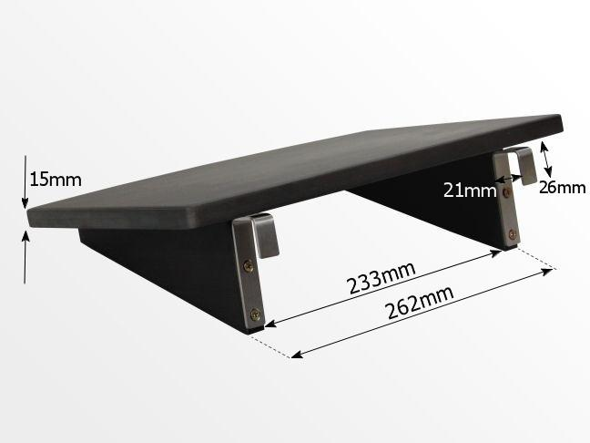 Dimensions of clip on bed hanging shelf