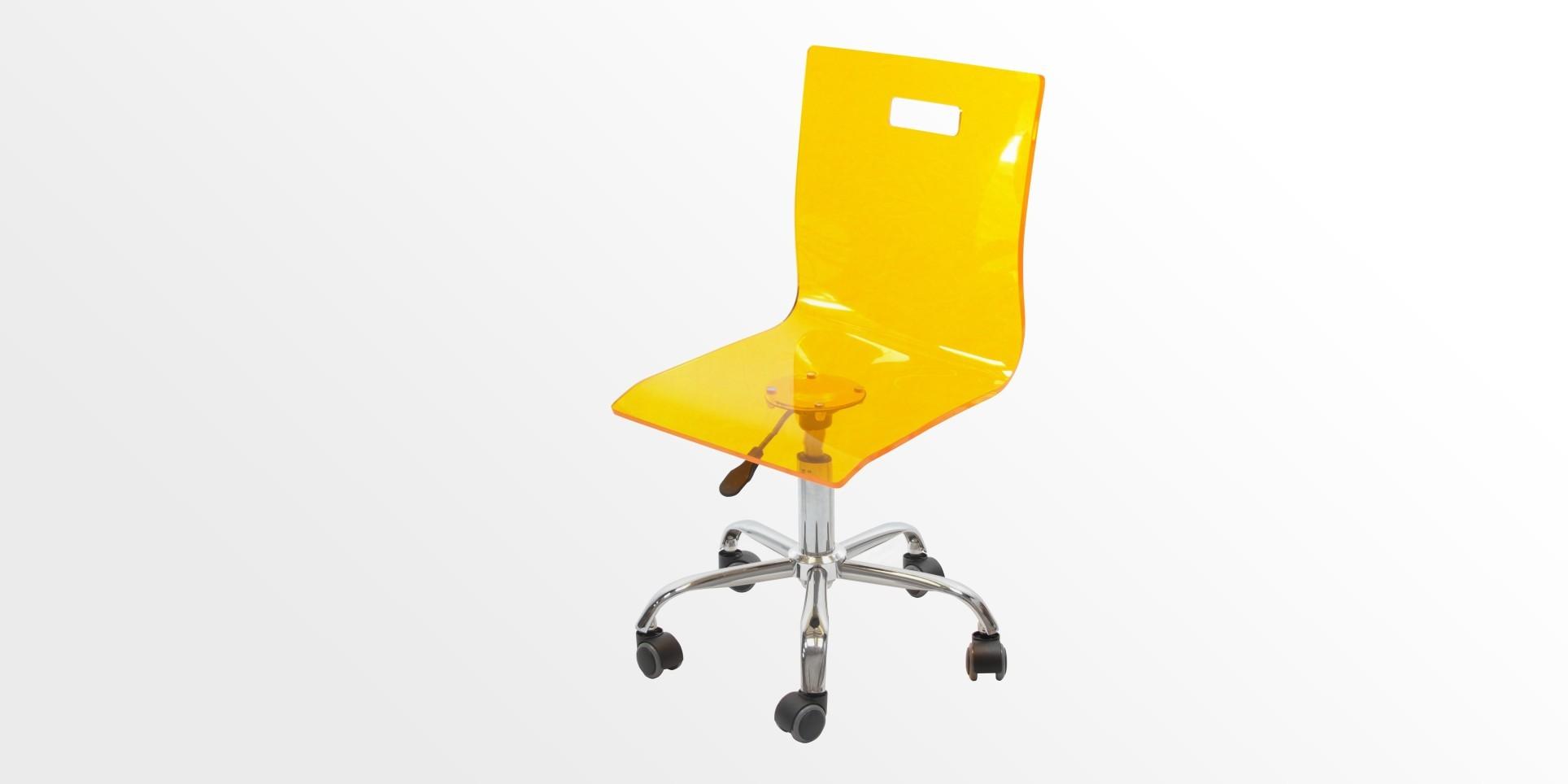 Children Acrylic Swivel Chair