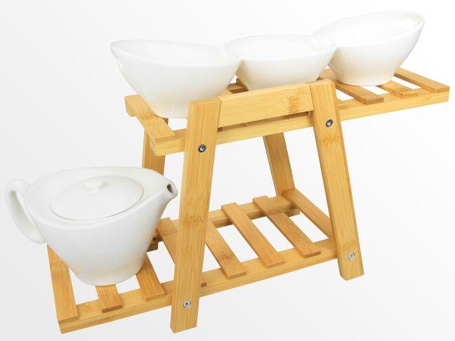Bamboo plate stand