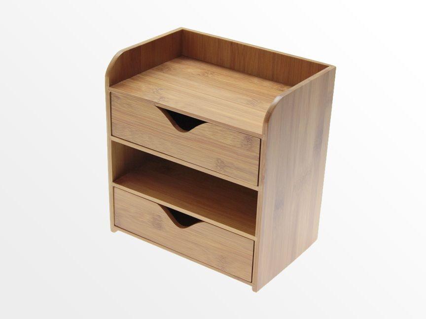 bamboo 4 tier desk organiser