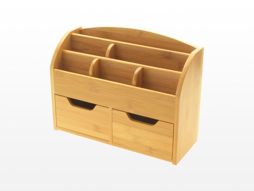 Bamboo Desk Stationery Organiser Storage Box Or Wall
