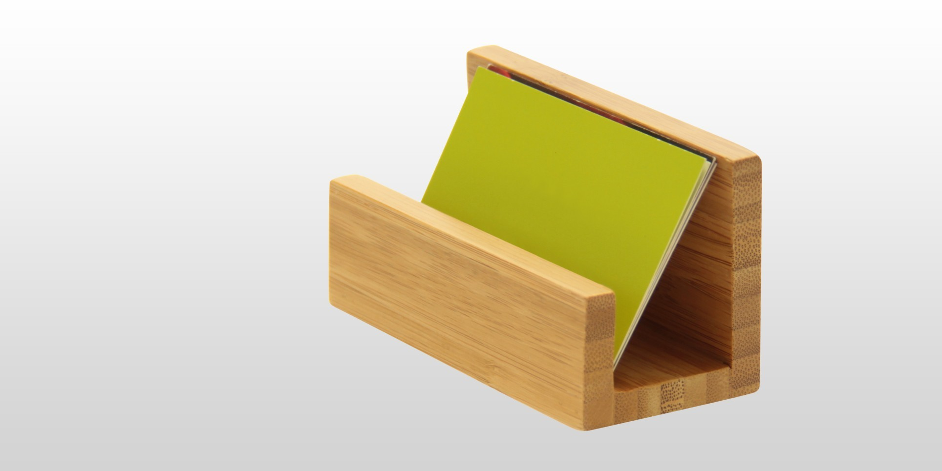 Business card holder bamboo office suppliers for Bamboo business card holder