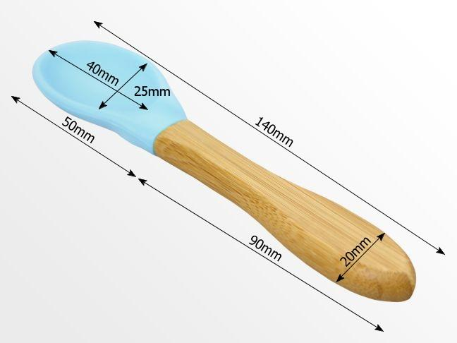 Dimensions of bamboo spoon