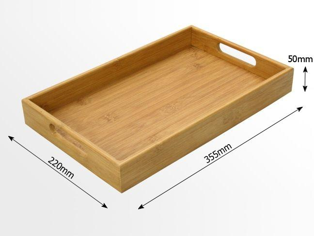 Dimensions of bamboo tray