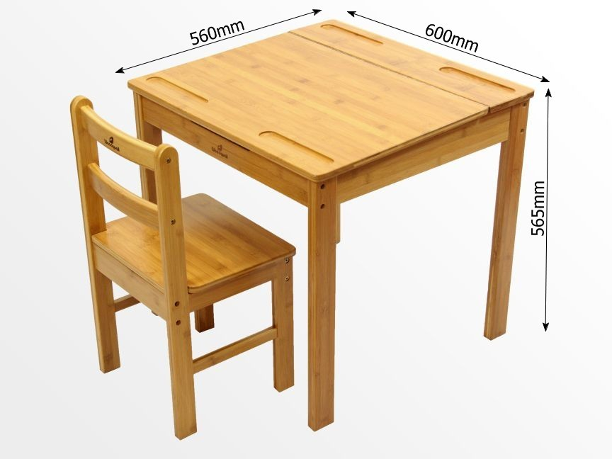 Dimentions of the table and chair