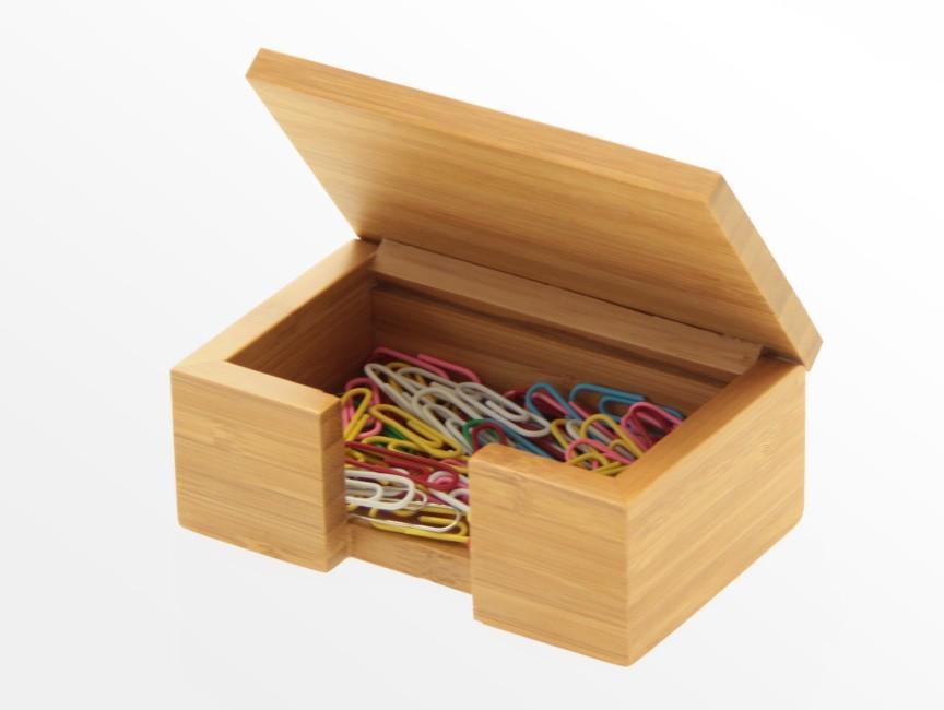 Bamboo Card Box, Business Card Holder | Office Supplies