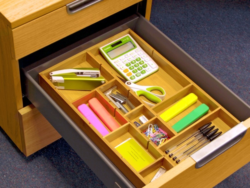 Delicieux Bamboo Drawer Organiser