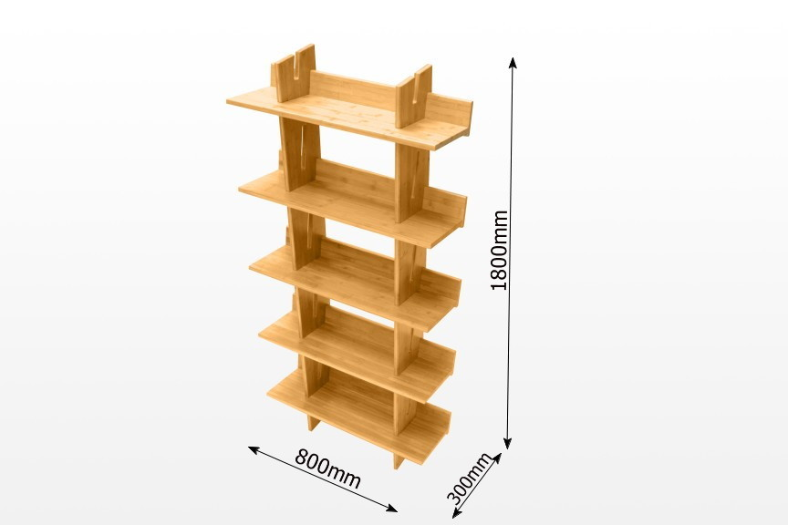 bamboo book shelves