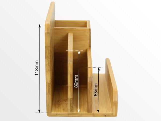 Dimensions of desk organiser
