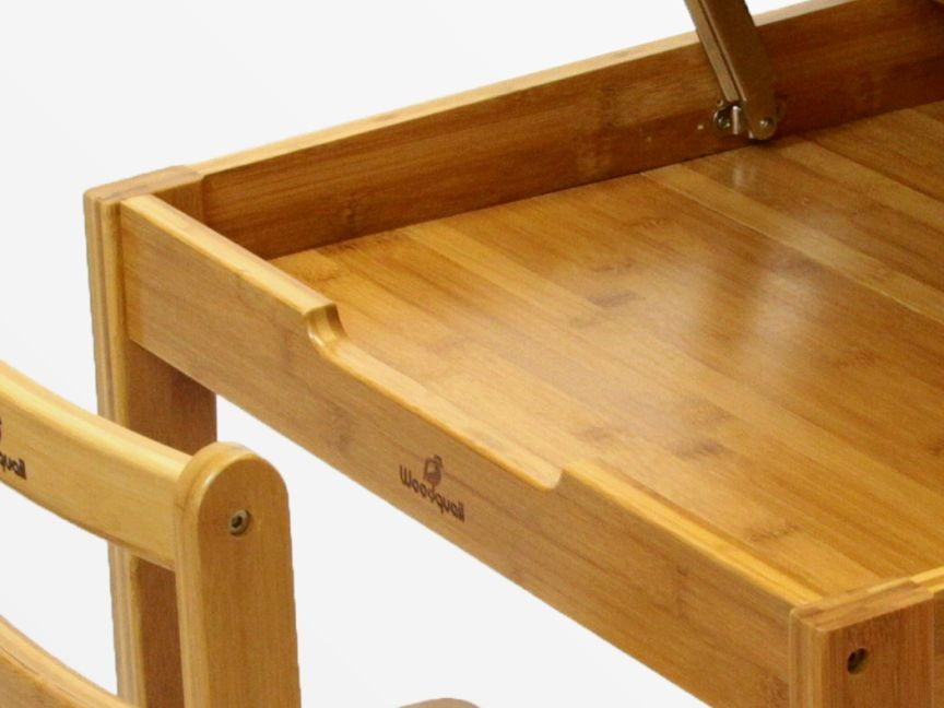 Bamboo kid's table and chair