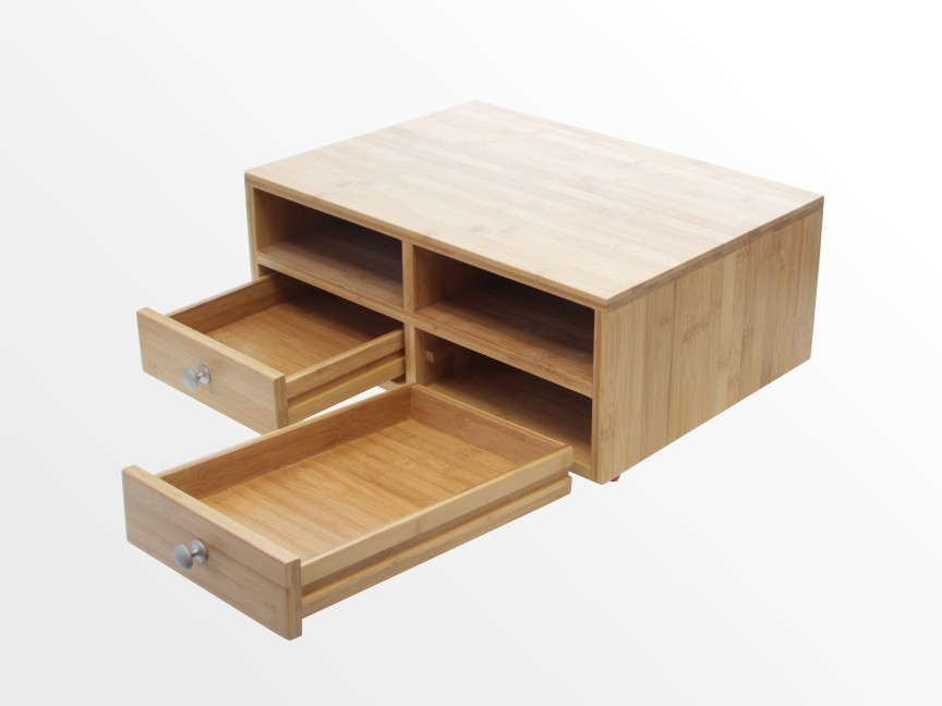 Equipped With Two Drawers For Storing Printer Accessories Cartridges Cables Or Stationery Has Compartments Designed A4 Paper