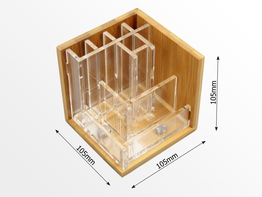 Dimensions of bamboo pen holder