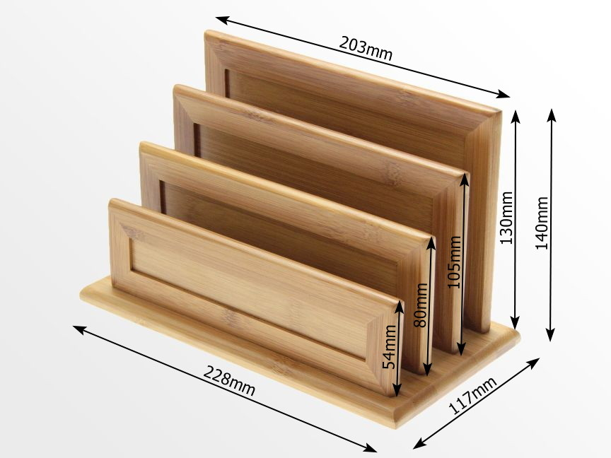 Dimensions of Bamboo Letter Rack