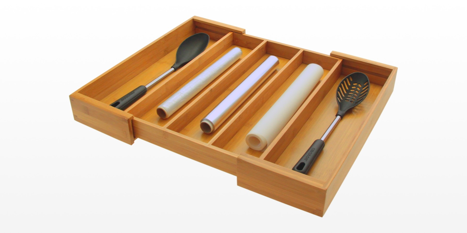 Expandable Flatware and Drawer Organizer