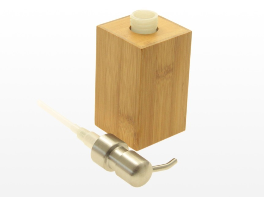 Bamboo lotion dispenser and soap dish