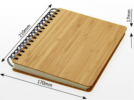 Bamboo Notebook, measures