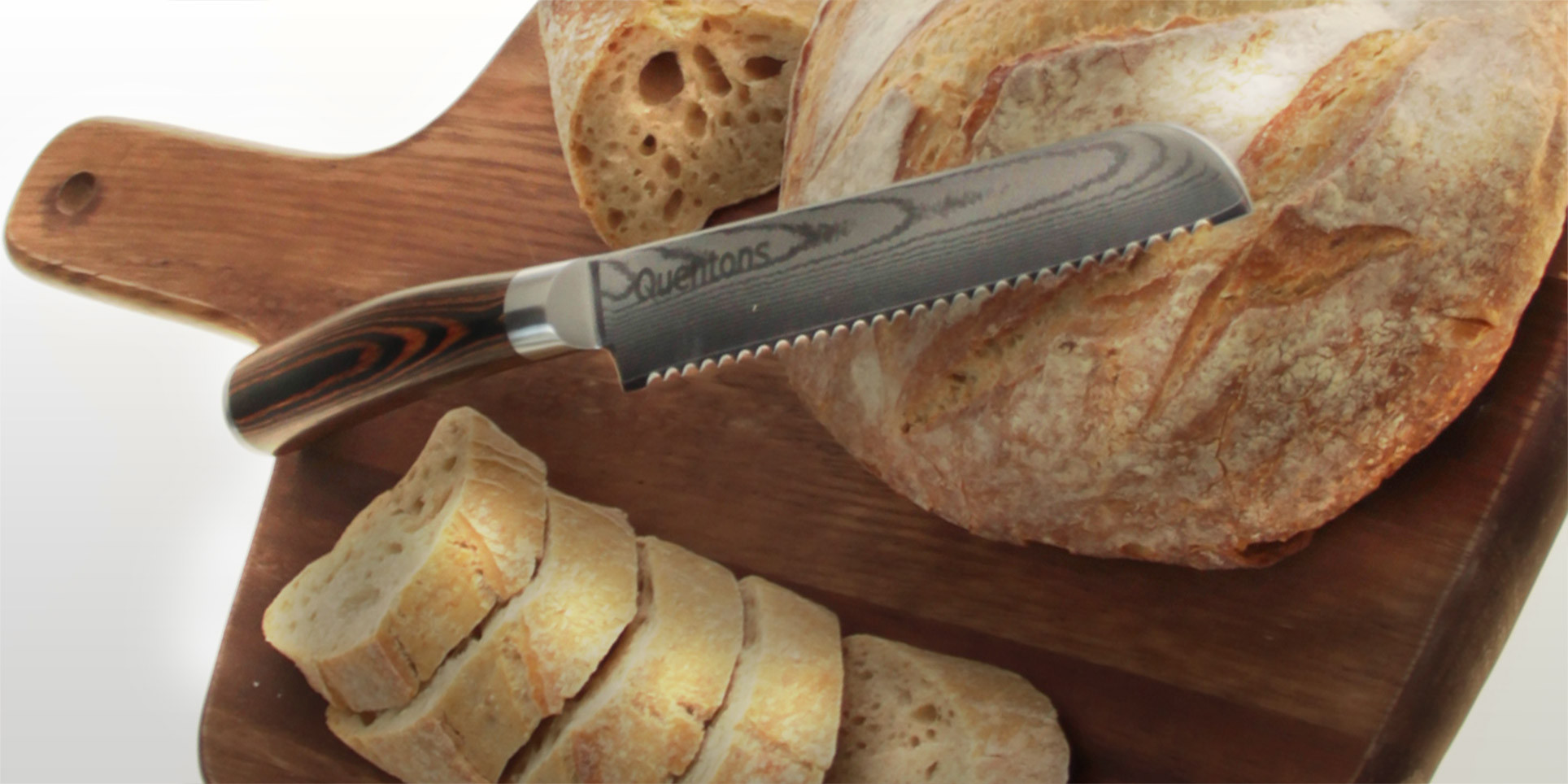 Bread knife, Damascus Steel