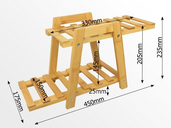 Dimensions of bamboo plant stand
