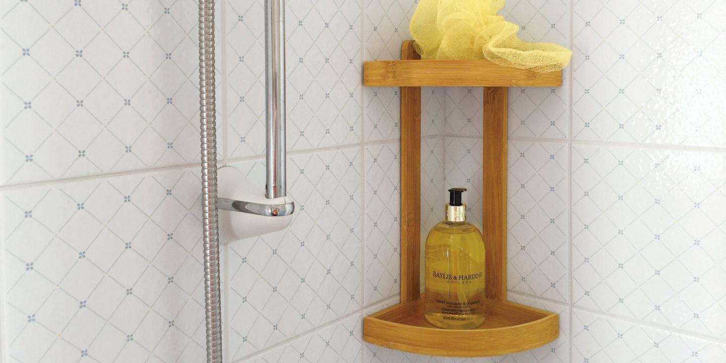 Bathroom 2-Tier Corner Shelf