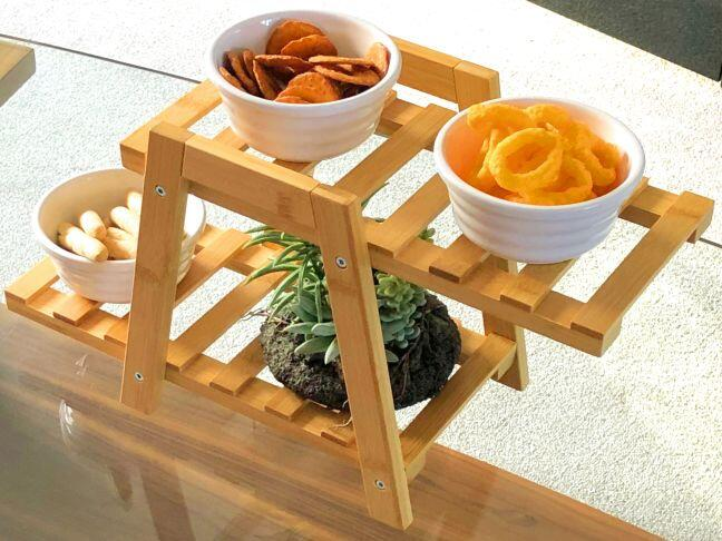 Bamboo snack stand