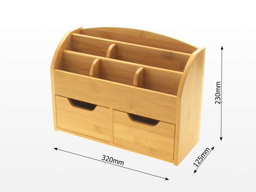 Dimensions of Bamboo Stationery Organiser