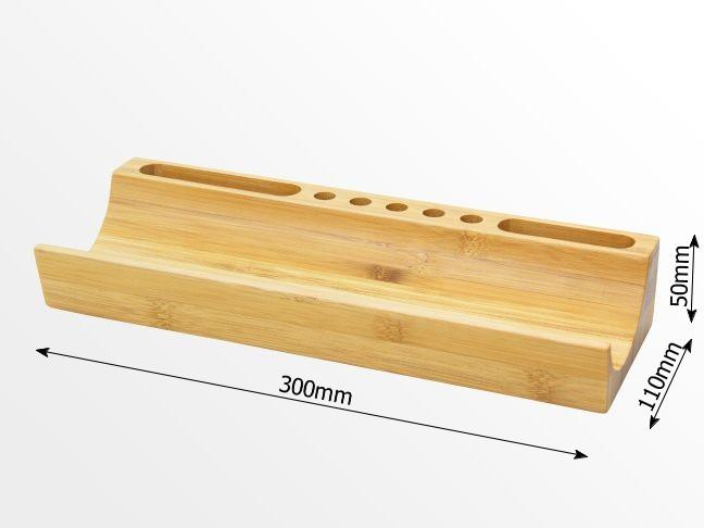 Dimensions of U-shaped desk organizer