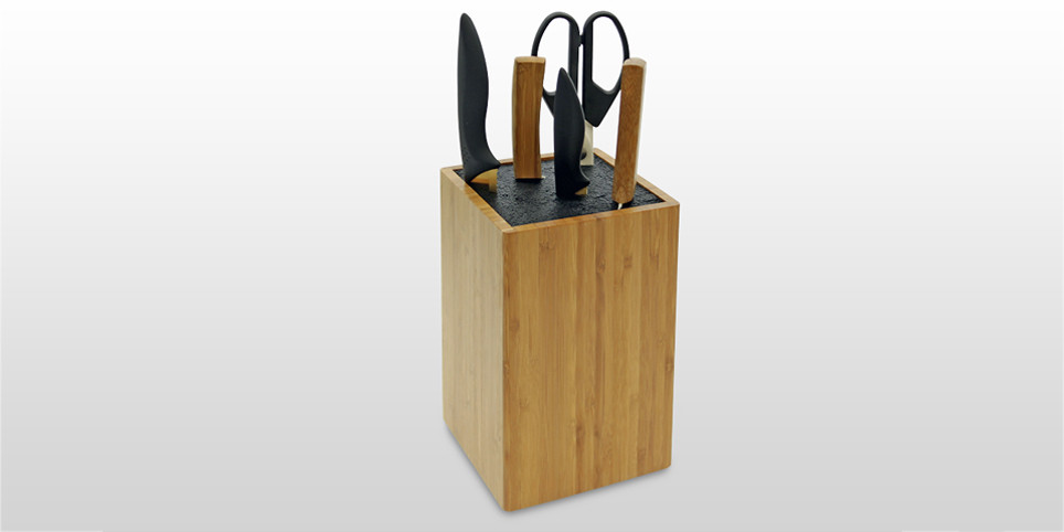 Fibre Knife Block | Ceramic Knives Holder| Bamboo Kitchen Accessories | Bamboo Knife Holder