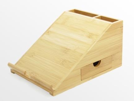 iPad Stand Desk Organiser Bamboo Office Supplies