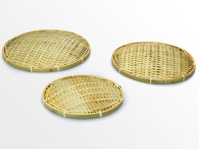 Set of woven bamboo plates